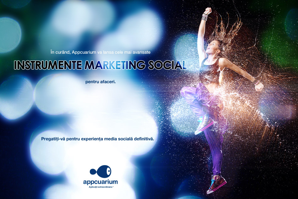 În curând, Appcuarium va lansa cele mai avansate instrumente de marketing social pentru afaceri. Pregatiți-vă pentru experiența media socială definitivă.